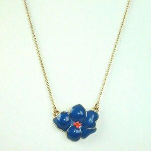 Kate Spade Blue enamel Floral Necklace